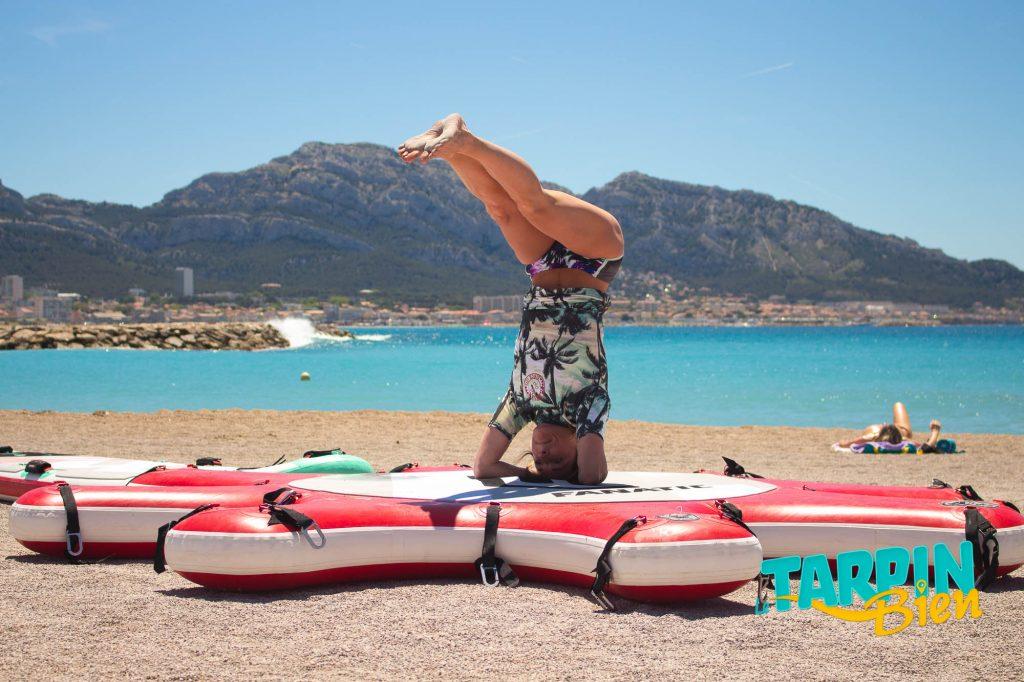 Cabanon - Plage du Prado - stand up paddle yoga
