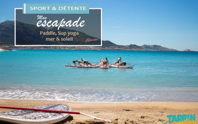 [escapade sport & détente] Paddle, Sup yoga, mer & soleil.