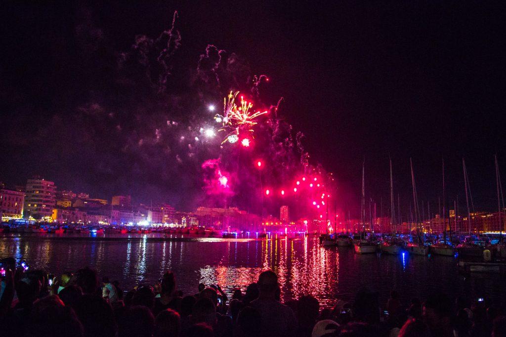 Feu d'artifice du 14 juillet à Marseille … Le 15 juillet :)