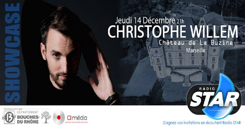 showcase priv radio star de christophe willem tarpin bien. Black Bedroom Furniture Sets. Home Design Ideas