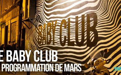 Le Baby Club – La programmation de Mars !