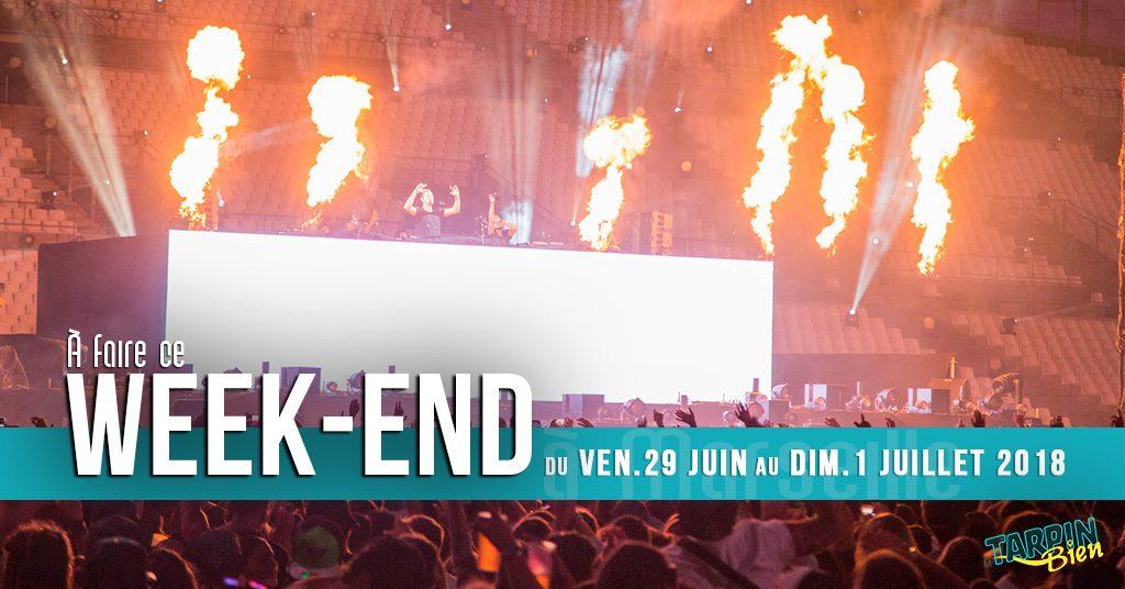 Agenda des sorties marseillaise du week-end (29 juin au 1 juillet 2018)