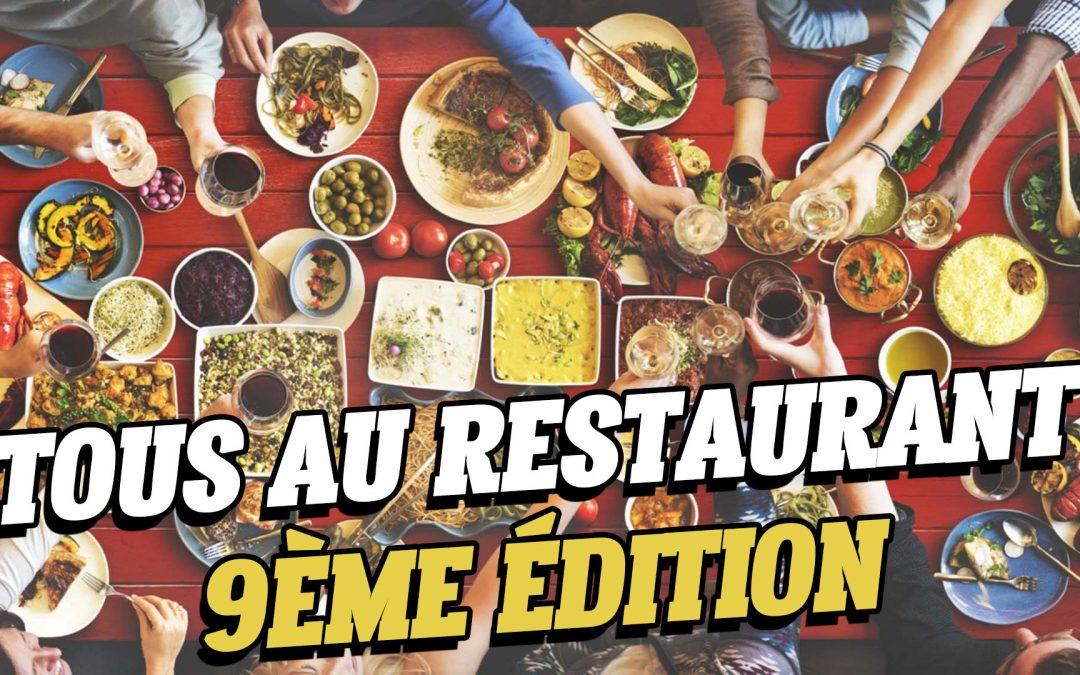 «Tous au Restaurant» : la 9ème édition