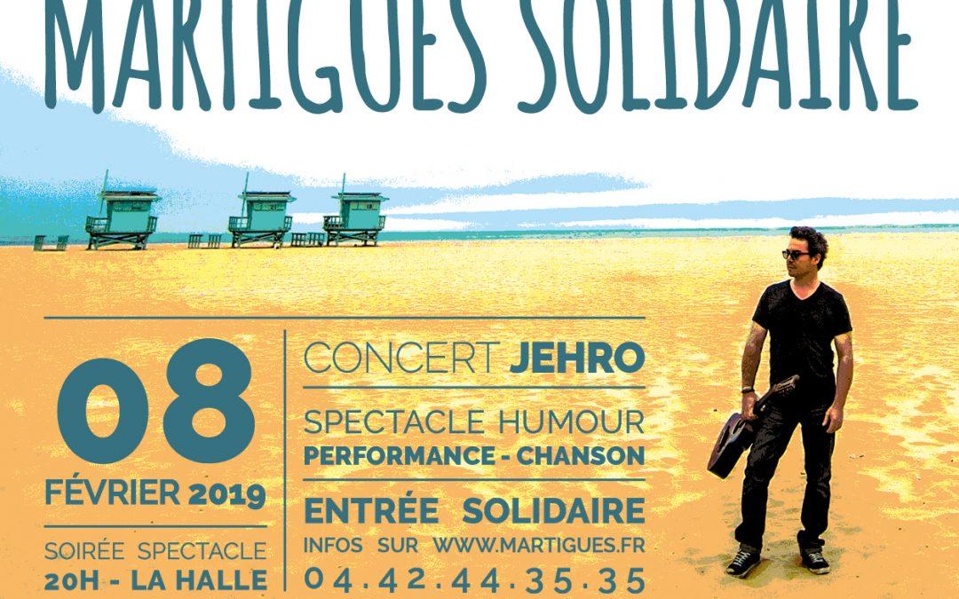 Martigues solidaire – Jehro en concert