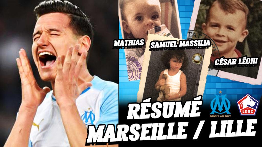Résumé du match OM / Lille : 1-1